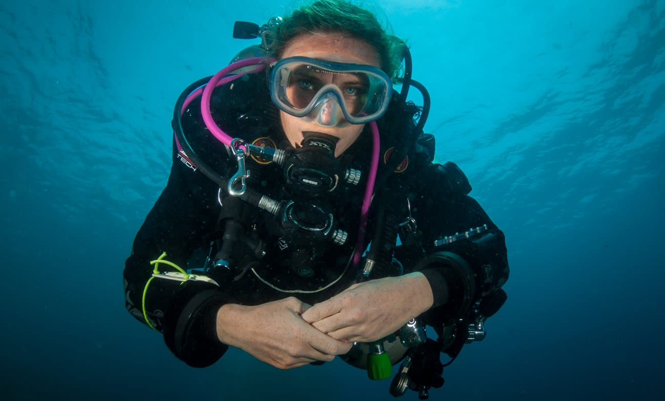 Diver Jenny Lord tech diving