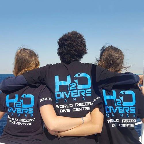 H2O Divers Dahab Logo