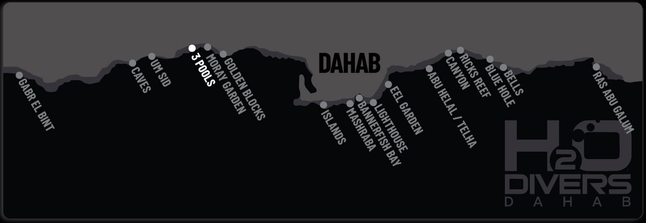 Dahab Dive Sites - 3 Pools
