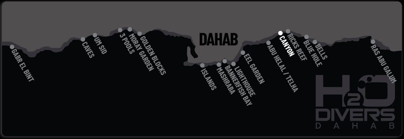 Dahab Dive Sites - Canyon
