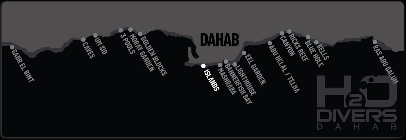 Dahab Dive Sites - Islands