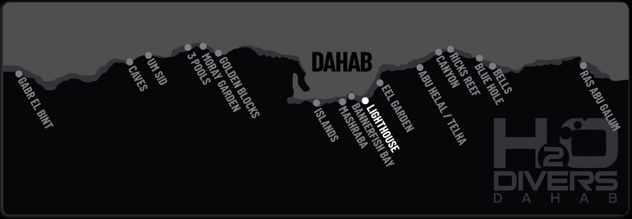 Dahab Dive Sites - Lighthouse