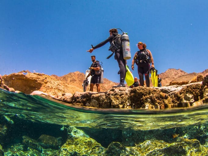 Entry at the bells - blue hole Dahab
